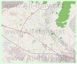 Подробная карта города Прато