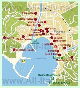 Карта отелей Рапалло