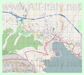 Подробная карта города Рапалло
