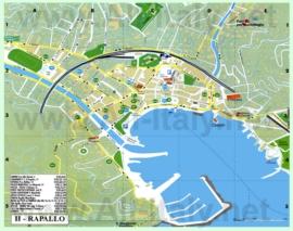 Туристическая карта Рапалло с достопримечательностями