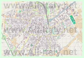 Подробная карта города Равенна