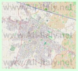 Подробная карта города Реджо-Эмилия