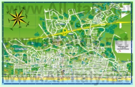 Туристическая карта Риччоне с достопримечательностями