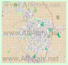 Подробная карта города Ровиго
