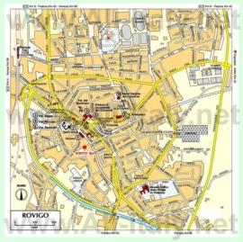 Туристическая карта Ровиго с достопримечательностями