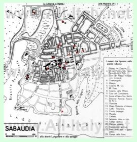 Туристическая карта Сабаудии с достопримечательностями