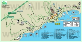 Карта Сан-Ремо с достопримечательностями