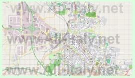 Подробная карта города Сассари