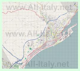 Подробная карта города Савона