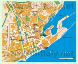 Туристическая карта Савоны с достопримечательностями