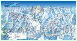 Подробная карта горнолыжного курорта Сестриере с трассами