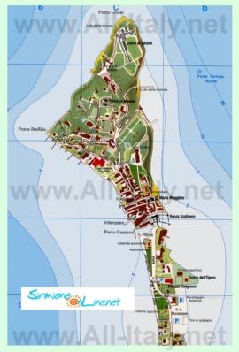 Подробная карта города Сирмионе