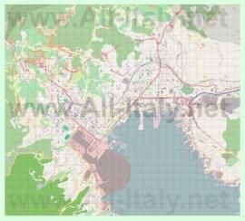 Подробная карта города Специя