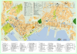 Туристическая карта Специи с отелями и достопримечательностями