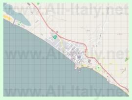 Подробная карта города Сперлонга