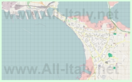 Подробная карта города Таранто