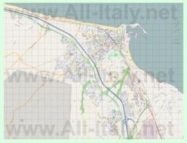 Подробная карта города Термоли