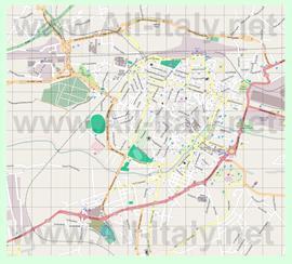 Подробная карта города Терни