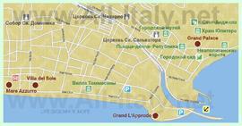 Карта отелей Террачины