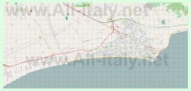 Подробная карта города Террачина