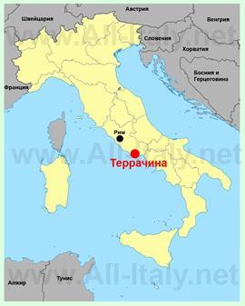 Террачина на карте Италии