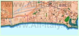 Туристическая карта Террачины с достопримечательностями