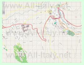 Подробная карта города Тиволи