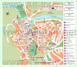 Туристическая карта Тиволи с достопримечательностями