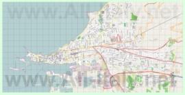 Подробная карта города Трапани