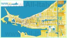 Туристическая карта Трапани с отелями
