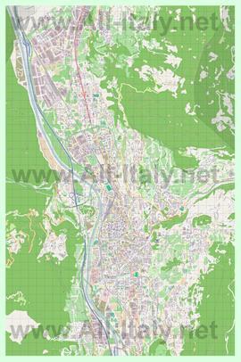 Подробная карта города тренто