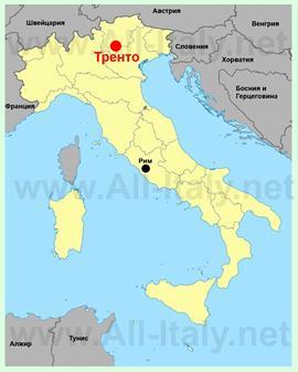 Тренто на карте Италии