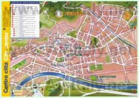 Туристическая карта Тренто с отелями и достопримечательностями