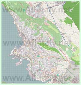 Подробная карта города Триест