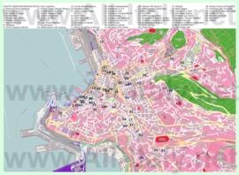Туристическая карта Триеста с отелями и достопримечательностями