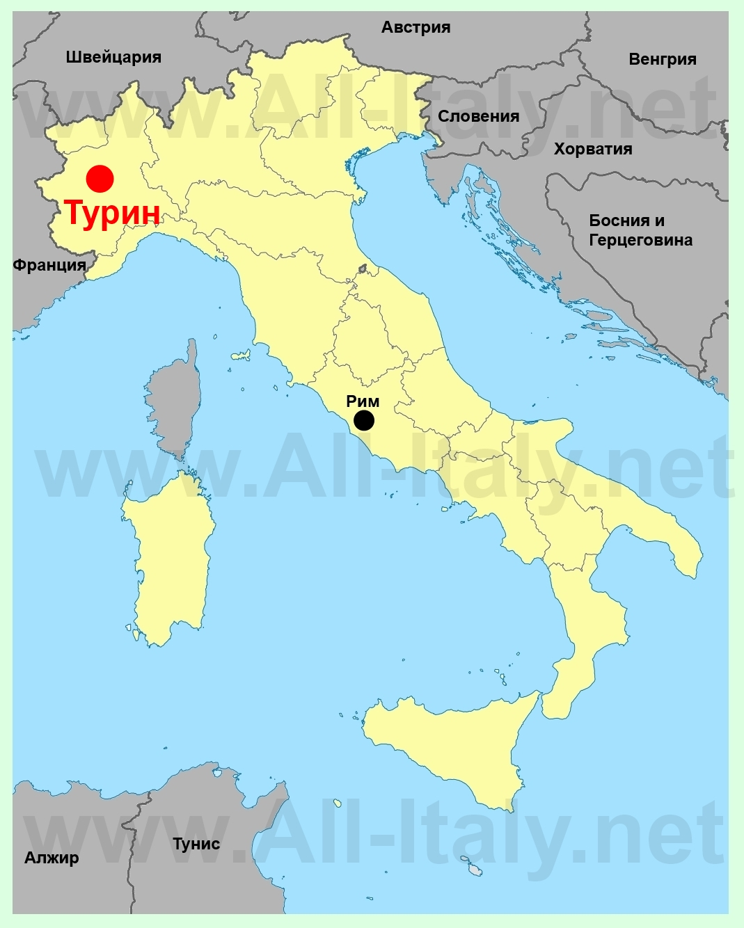 Где находится Италия. Карта Италии. Скачать карту Италии ...