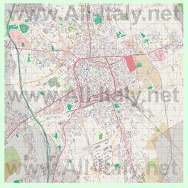 Подробная карта города Удине