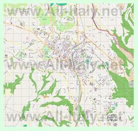 Подробная карта города Варезе
