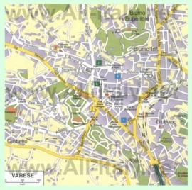 Туристическая карта Варезе с достопримечательностями