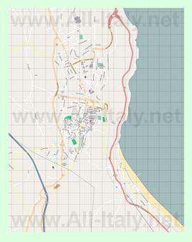 Подробная карта города Васто