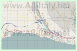 Подробная карта города Вентимилья