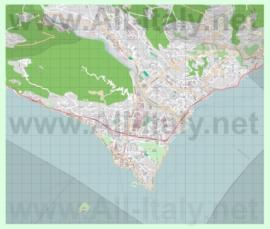 Подробная карта города Вербания