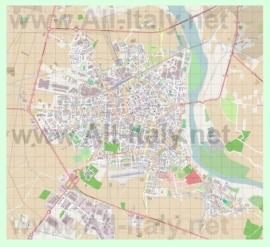 Подробная карта города Верчелли