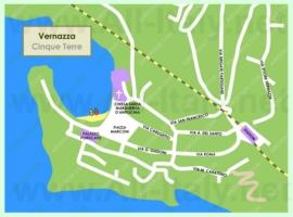 Подробная туристическая карта города Вернацца с достопримечательностями