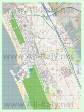 Подробная карта города Виареджо