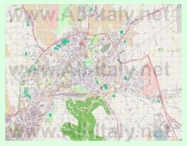 Подробная карта города Виченца