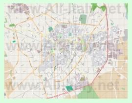 Подробная карта города Виджевано