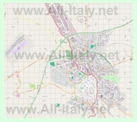 Подробная карта города Витербо