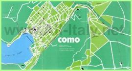 Карта города Комо