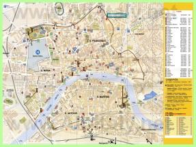 Подробная карта Пизы с отелями